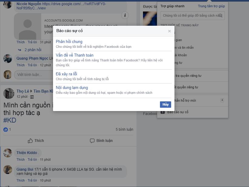 Hướng dẫn cách liên hệ với Facebook khi gặp sự cố về tài khoản cá nhân mới nhất năm 2019