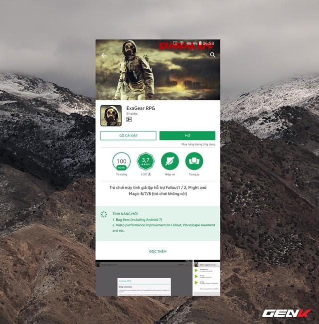 Bước 2: Truy cập Google Play Store (CH Play) trên Android, tìm và tải về ứng dụng ExaGear Strategies hoặc ExaGear RPG. Nếu khó khăn trong việc tìm kiếm 2 ứng dụng này, bạn có thể tải và cài đặt chúng thông qua gói APK này.