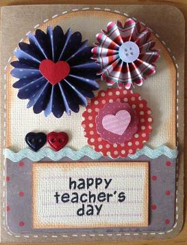 Thiệp handmade tặng thầy cô ngày 20-11 (Ảnh ST)