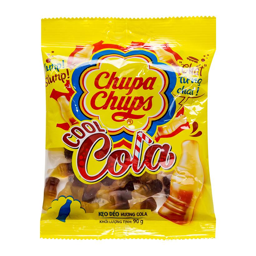 Cola Chupa Chups với hương vị cola được cô đặc trong viên kẹo dẻo