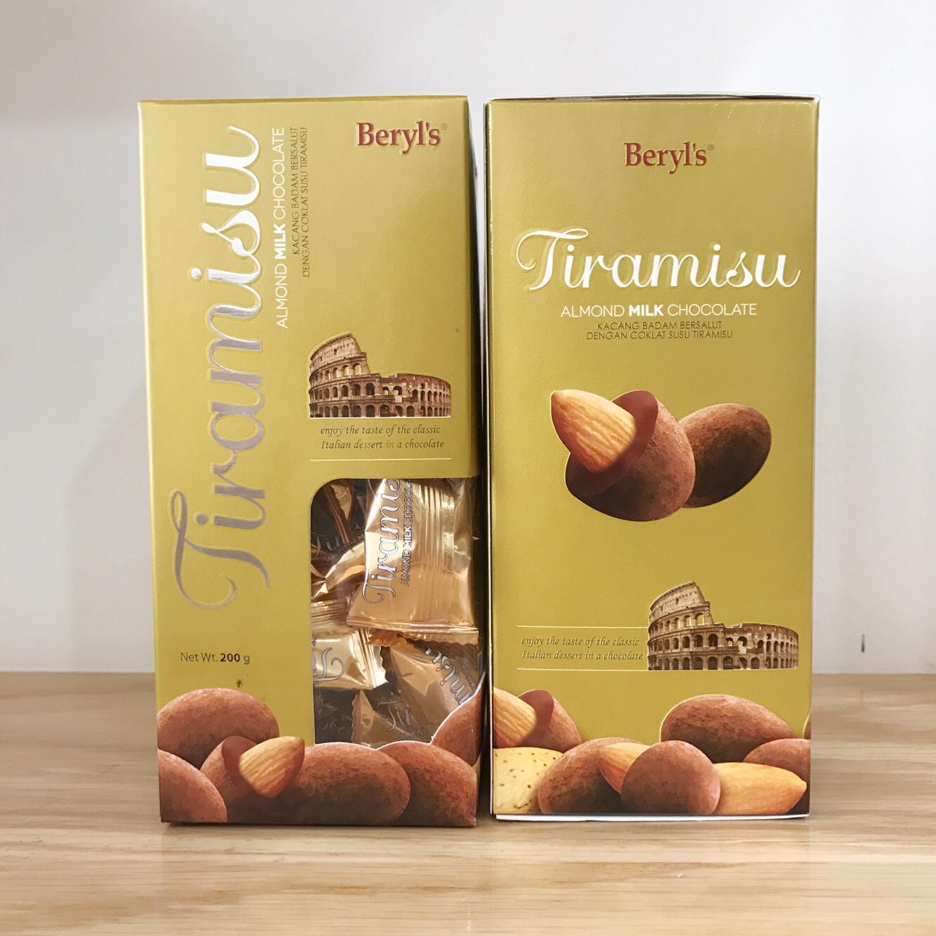 Sô cô la Tiramisu Almond Dark Chocolate Beryl's hộp 200g