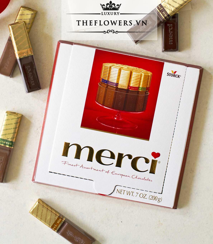 Loại kẹo ngon ngày tết sô cô la Merci đầy màu sắc