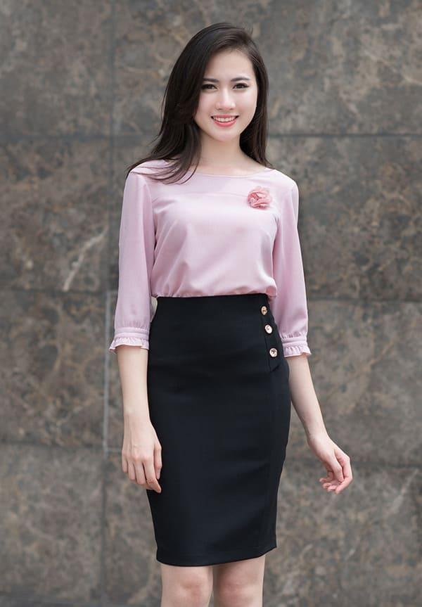 áo sơ mi nữ cách điệu 2019