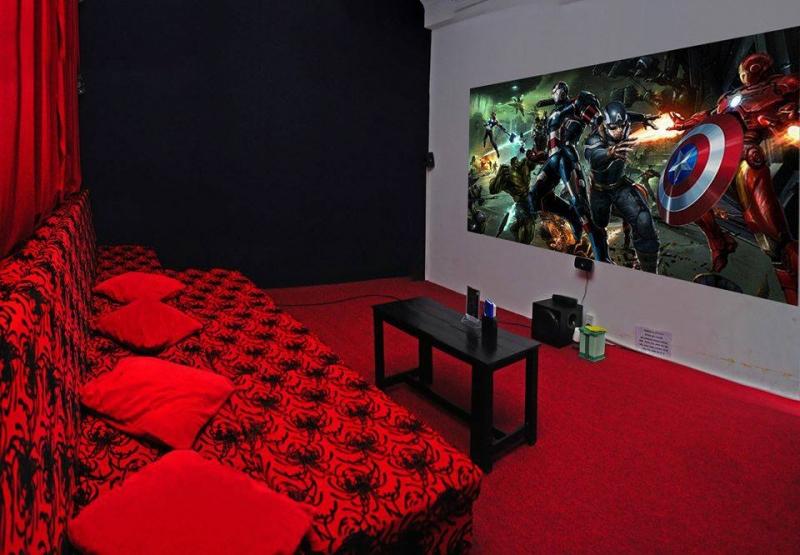 Phòng phim đẹp mắt,sạch sẽ và gọn gàng