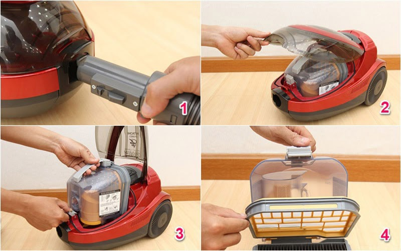 Cách tháo máy hút bụi Hitachi CV-SH20V