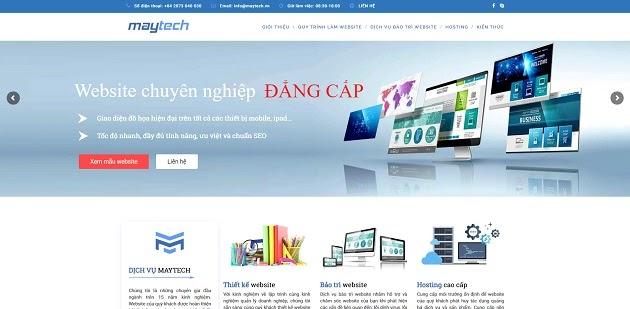 Thiết kế web maytech