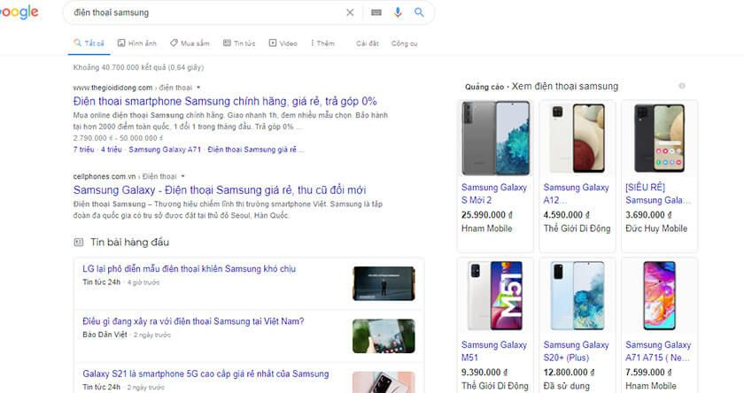 Cac Hinh Thuc Quang Cao Google Shopping