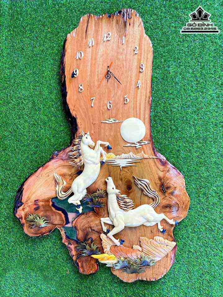Đồng hồ treo tường gỗ tự nhiên
