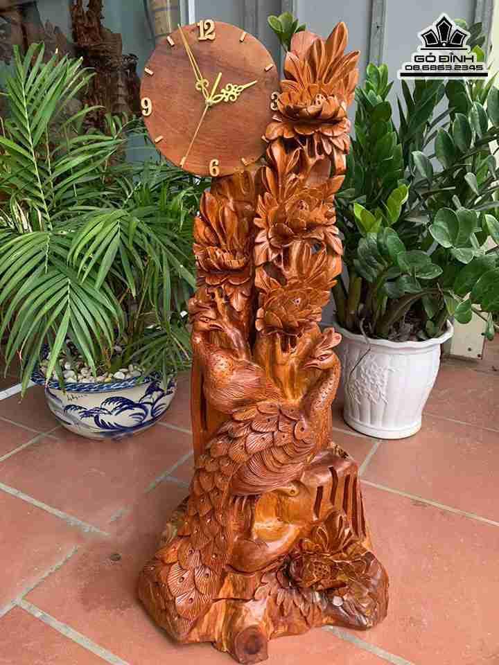 Đồng hồ gỗ tự nhiên
