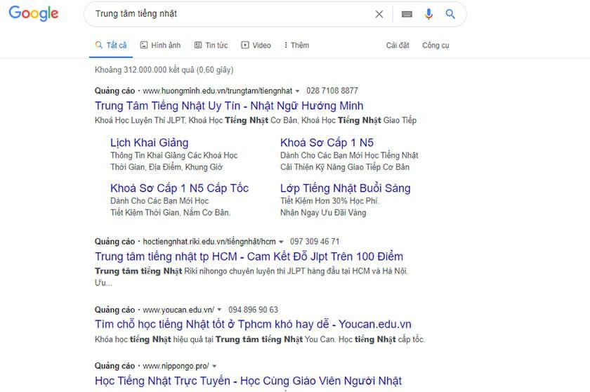Vi Tri Cac Loai Quang Cao Google Search