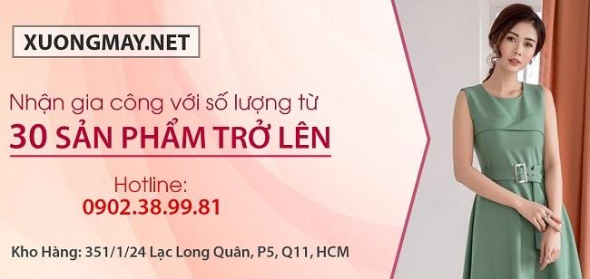 xuongmay.net là xưởng may gia công quần áo uy tín tại TP HCM