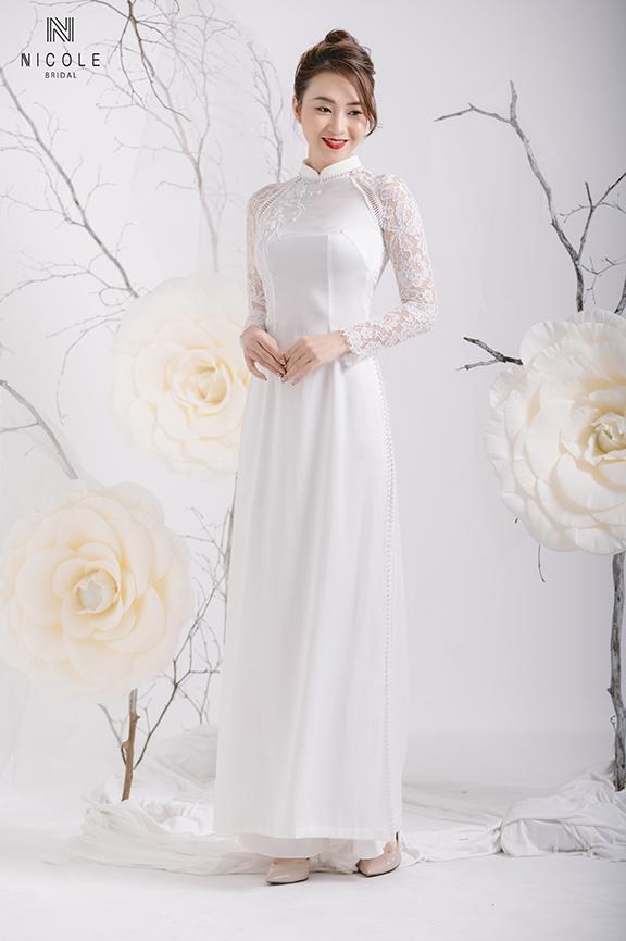 Top 3 mẫu áo dài cưới cách tân được yêu thích