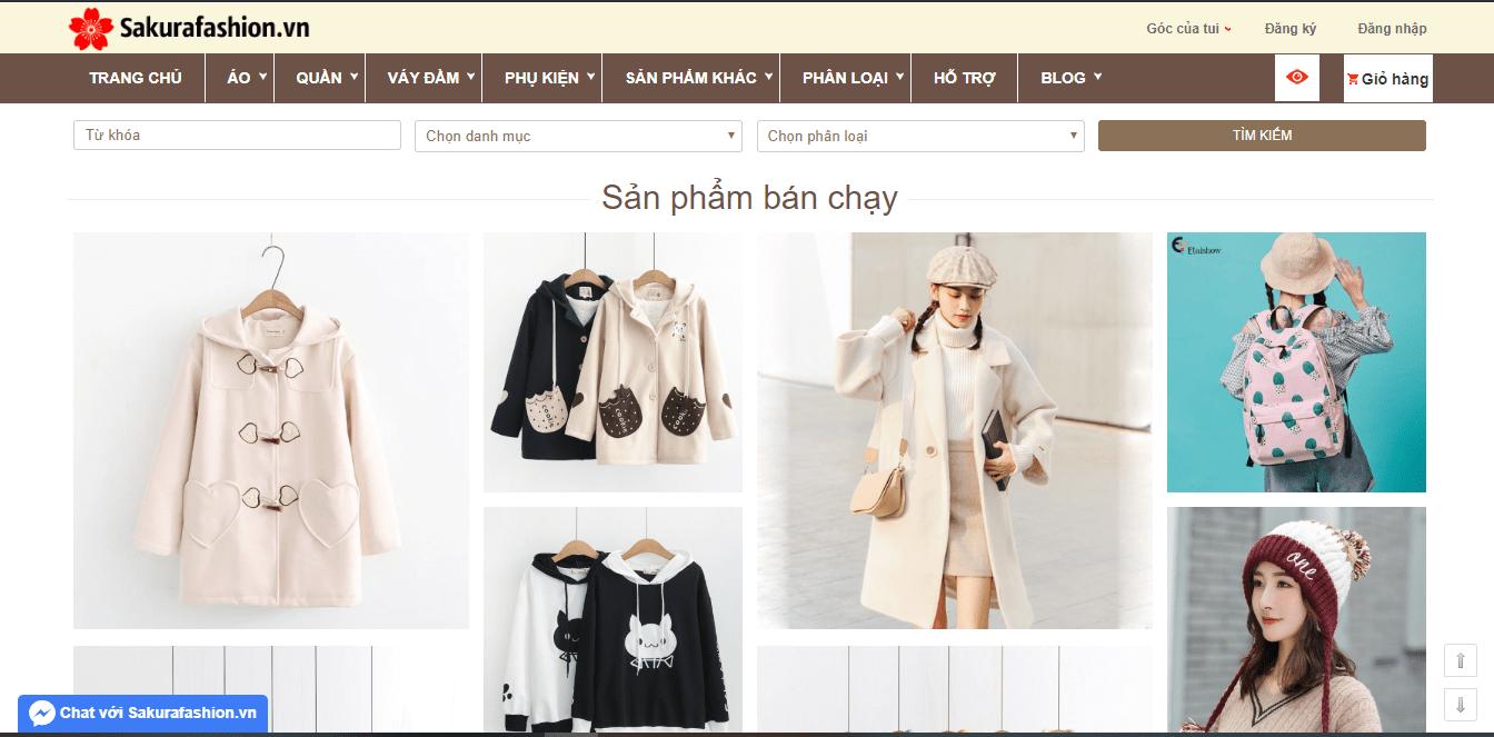 bán quần áo đẹp tại SG