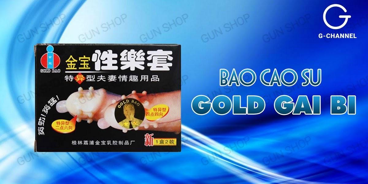 Bao cao su Gold gai bi tăng khoái cảm